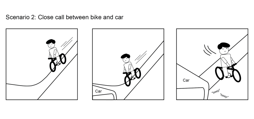3 - Bike + Car Close Call-01
